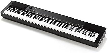 Casio CDP-130 - Piano digital con soporte (88 teclas, 48 notas, 5 canciones), color negro