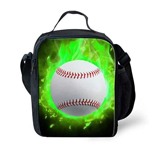 Showudesigns Baseball Crossbody Lunch Box for Boys Girls School Food Picnic Lunch Bag ()