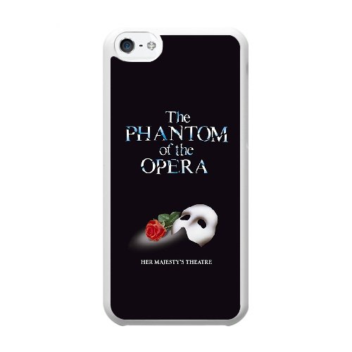 Coque,Coque iphone 5C Case Coque, The Phantom Of The Opera Cover For Coque iphone 5C Cell Phone Case Cover blanc
