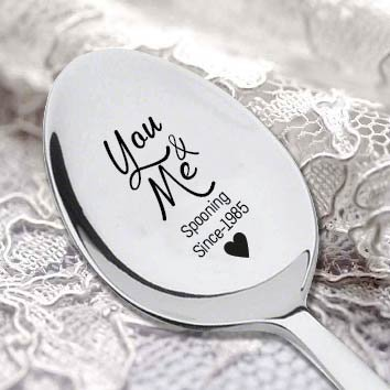 You and Me Spooning - Cuchara personalizable para cubertería: Amazon.es: Hogar