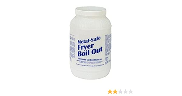 Amazon.com: Metal-Safe Fryer Boil Out, Disco MSFB08, 2 each 8# tubs per box, 16# total: Industrial & Scientific