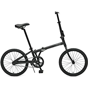 Critical Cycles 2643 Judd Folding Bike Single-Speed With Coaster Brake, Matte Black, 26cm/One Size
