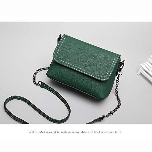 XCXDX Crossbody Spalla Borse Multi Tasche Borsa Per Le Donne Tote Bag In Pelle (Nero, Verde, Grigio),Black Green