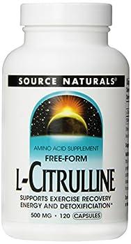 Source Naturals L-Citrulline 500mg, Enhanced Athletic Performance, 120 Capsules