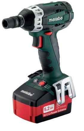 Metabo SSW18 LT 18V 1/2-Inch Impact Wrench Kit, Green/Black