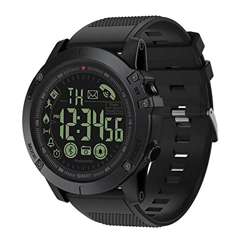 (Digital Sports Smart Watch Military Grade Super Tough Outdoor Sports Talking Watch Waterproof Pedometer Calorie Counter Multifunction Bluetooth Smart Watch (Black))