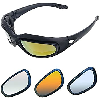 Amazon.com: AULLY PARK Polarized Motorcycle Riding Glasses Black ...