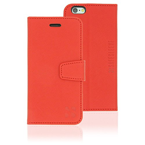 iPhone 6/6s Plus Cell Phone Radiation Blocker and RFID Wallet Case by SafeSleeve (Red) by SafeSleeve