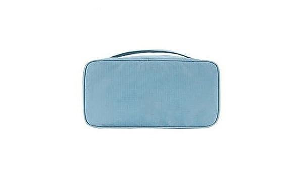 SYT Storage Boxes Bolsa de Almacenamiento para Mujer Necesidades de Viaje Accesorios Ropa Interior Ropa Sujetador Organizador Estuche de Maquillaje cosmético, 26x12x13cm, Azul Claro: Amazon.es: Hogar