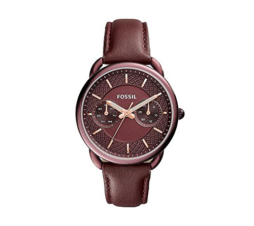 Fossil-Womens-35mm-Tailor-Multifunction-Watch-With-Wine-Leather-Strap