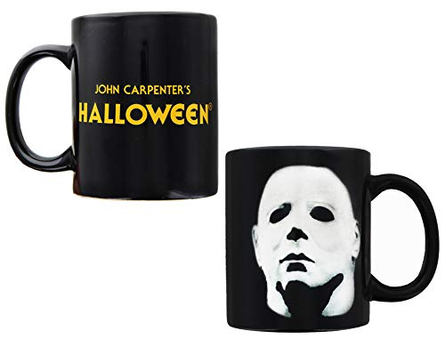 Halloween Movie Memorabilia (Michael Myers Halloween Horror Movie Coffee Mug | Heat Changing Cup Reveals Micahel Myers' Face | Holds 11)