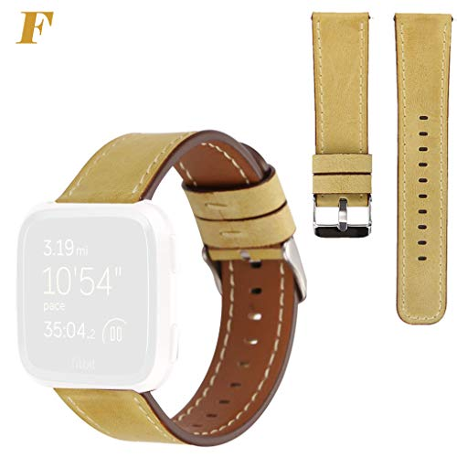 Little Story for Fitbit Versa Slim Premium Leather Band Replacement Strap for Women Men