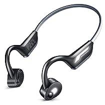 【最新型 Bluetooth5.0&夜間反射素材】 Bluetoothイヤホン骨伝導ヘッドホンスポーツ 高音質 耳が疲れない 完全ワイヤレス イヤホン 自動ペアリング IP56防水 ハンズフリー ノイズキャンセル 超軽量 ブルートゥース イヤホン 日本語取扱説明書 Siri対応 iPhone&Android対応