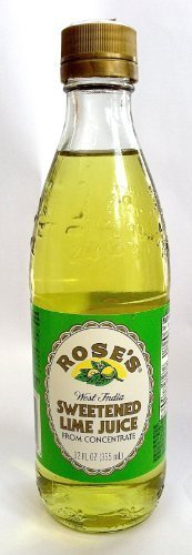 Rose's West Indian Sweetened Lime Juice 12 Fl Oz 1 Made with real lime juices Great way to add a splash of color or flavor to any drink Perfect for non-alcoholic drinks too!