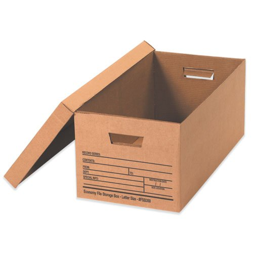 BOX USA BFSB350 Economy File Storage Boxes, 24