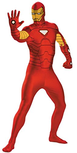 [Deluxe Superhero Full Bodysuit Costume - X-Large - Chest Size 42-46] (Spiderman Bodysuit)