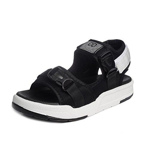 de arena sandalias salvajes de A tela verano zapatos los gruesa arena planos letras Las Aumentar HqU805