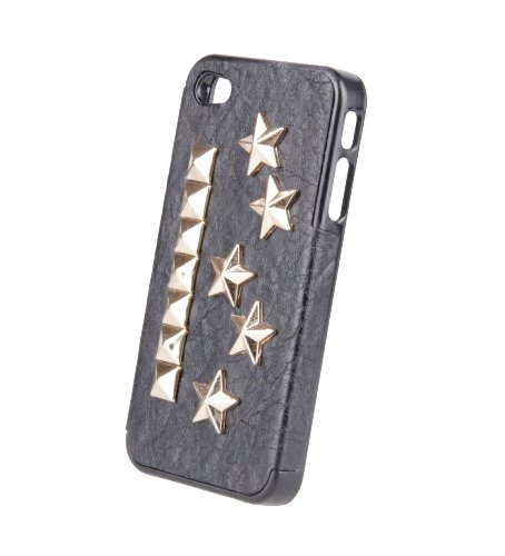 Monkey Cases® iPhone 4 / 4s - Nieten Case - schwarz / gold - Original - Totenkopf - Skull - NEU - Steine #6
