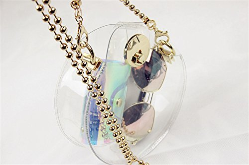 Transparent Hologram Purse Shoulder Transparent Bag Cross Body Bag Women's Clear aqzwdWnwS