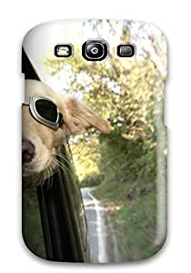 High Impact Dirt/shock Proof Case Cover For Galaxy S3 (funny Dog Sitting In Car)