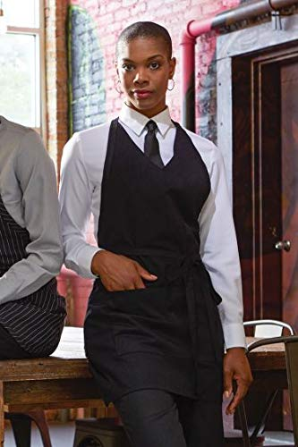 Uncommon Threads Unisex V-Neck Formal Apron, Black, One Size from Uncommon Threads