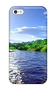 Tpu Case Cover For Iphone 5/5s Strong Protect Case - Scenery Design