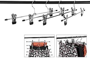SONGMICS 100 Unidades Antideslizante Percha met/álica Ajustables para 40 x 10,5 cm CRI006-100