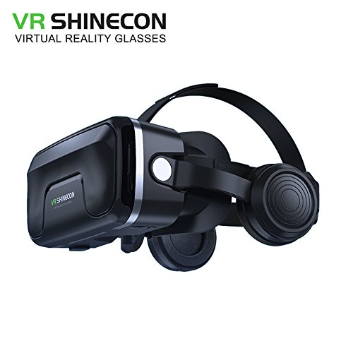 VR shinecon 6.0 G04EA headset upgrade version virtual reality glasses 3D video Movies and Games VR 3D glasses headset helmets Game box VR helmet VR headphone for 4.7 - 6.0 inches screen smart phone