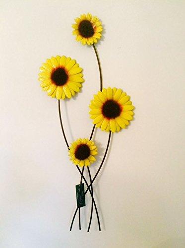 Fountasia Metal Wall Art Sunflower Bunch Contemporary Garden Home ...
