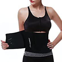 Forcefree+ Waist Trimmer Belt, Adjustable Ab Belt Abdominal Trainer Body Shaper Gym Training Fat Burner Weight Loss Fit Waist Up to 40 inches
