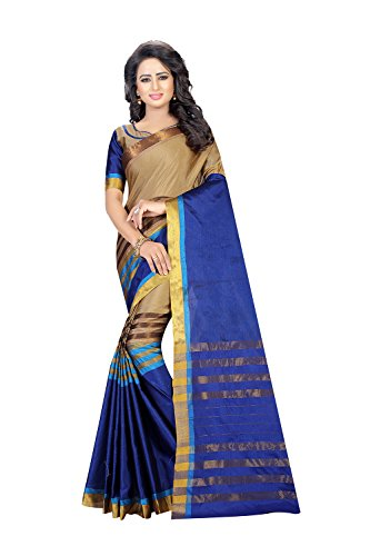 Dessa Collections Indian Sarees For Women Wedding Blue Golden Designer Party Wear Traditional Sari by Dessa Collections