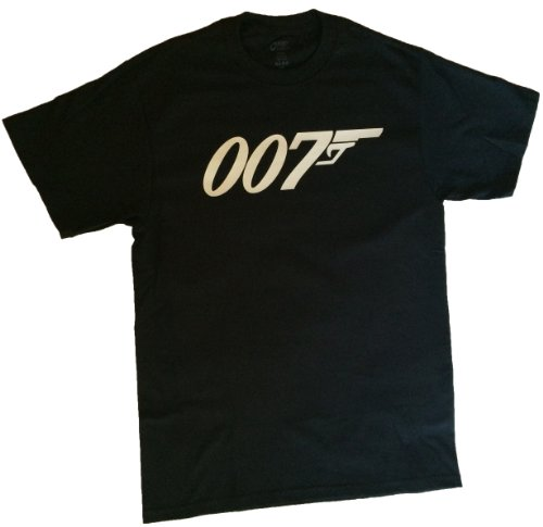 Top Notch Custom Apparel Adult James Bond 007 T-Shirt Large Black