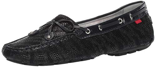Marc Joseph New York Womens Genuine Leather Cypress Hill Loafer Driving Style, Navy Glaze, 8 M US