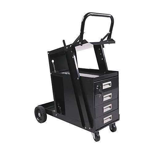 aHUMANs Welding Drawer Welder Cart Plasma Cutter Tank Storage 4 Drawer Cabinet