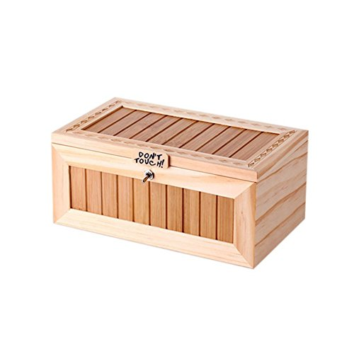 Alician Wooden Useless Box Leave Me Alone Box Most Useless Machine Don't Touch Tiger Toy Gift with Sound by Alician (Image #2)