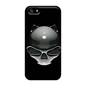 Special LifeLeader Skin Case Cover For Iphone 5/5s, Popular Skull Cat Phone Case