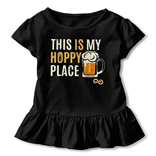 in My Hoppy Place 1 Baby Girls Short Sleeve Peplum T-Shirt ()