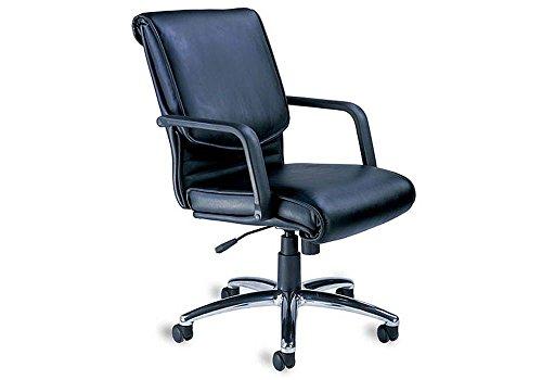 "Mercado Leather Desk Chair Black Leather/Chrome Frame Dimensions: 25""W x 31""D x 39-42""H Seat Dimensions: 20""Wx19""Dx20-23""H"