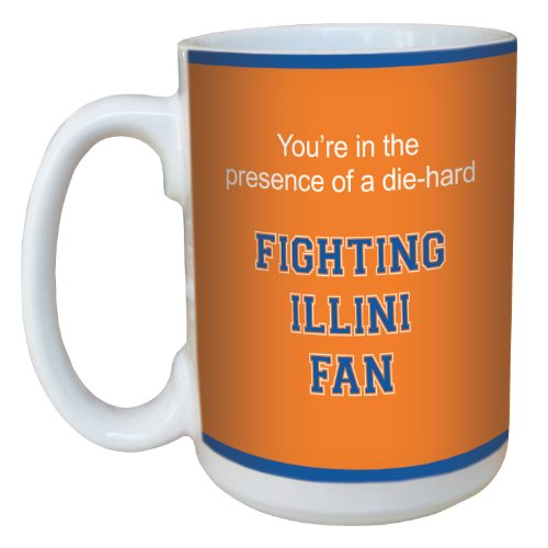 Tree-Free Greetings lm44456 Fighting Illini College Football Fan Ceramic Mug with Full-Sized Handle, 15-Ounce