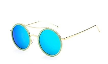 fd5a902937 Demarkt 1pcs Lunettes de Soleil à Monture Ronde UV Protection/Lunettes De Rayonnement  Style Classiques