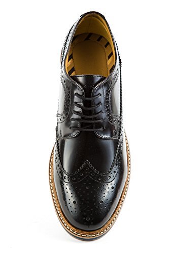 Scarpe BL5 Uomo Base Nero London Nero 022 Stringate q7Hp4