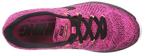 NikeFlyknit Lunar3 - Zapatillas de Running Mujer Multicolor - Mehrfarbig (Pink Foil/Black/Pink Pow)