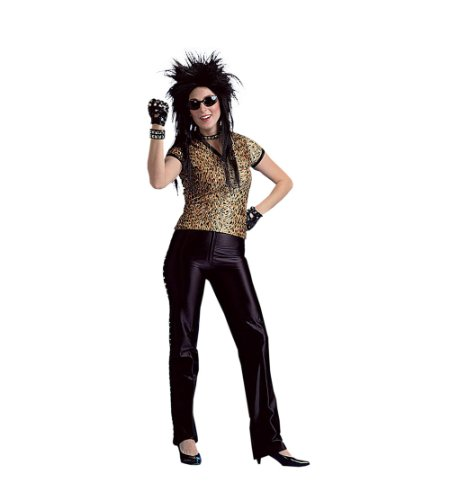 80s Rock Chick (Leopard Print) Adult Halloween Costume Size 4-6 (Rock Chicks Costume)