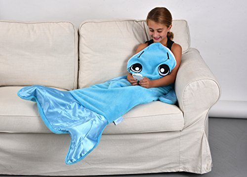 Snuggie tails dolphin blanket for kids new ebay for Snuggie tails clown fish