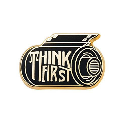 - Asilda Store Lapel Enamel Pin [with Deluxe Pin Lock] (Think First)