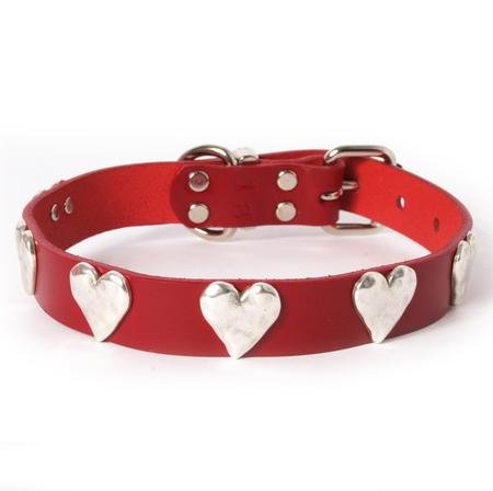 Silver Hearts Leather Dog (Muttropolis Heart)