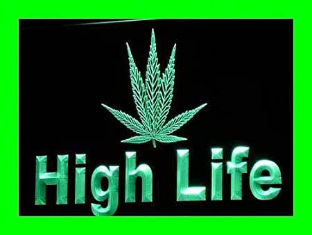 ADVPRO Cartel Luminoso i226-g Life Marijuana Hemp Leaf Light ...