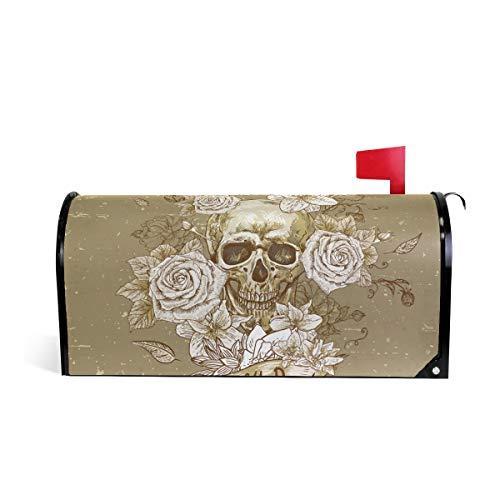 Printedin3D Sugar Skull Dia De Los Muertos Magnetic Mailbox Cover for US Large Size