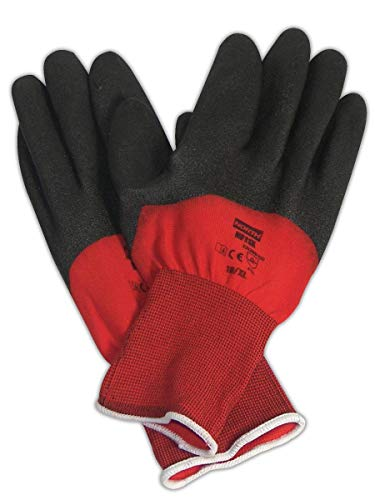 North by Honeywell NF11X/7S NorthFlex Red X PVC 3/4 Coated Glove, 7, Black (Pack of - Pvc Gloves Black Coated