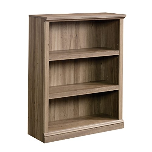 Sauder 420176 3-Shelf Bookcase, L: 35.28' x W: 13.31' x H: 43.78', Salt Oak finish